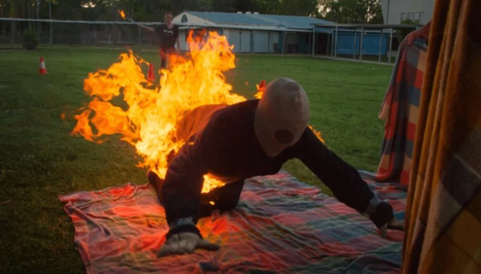 it is possible to extinguish the fire by rolling on the ground