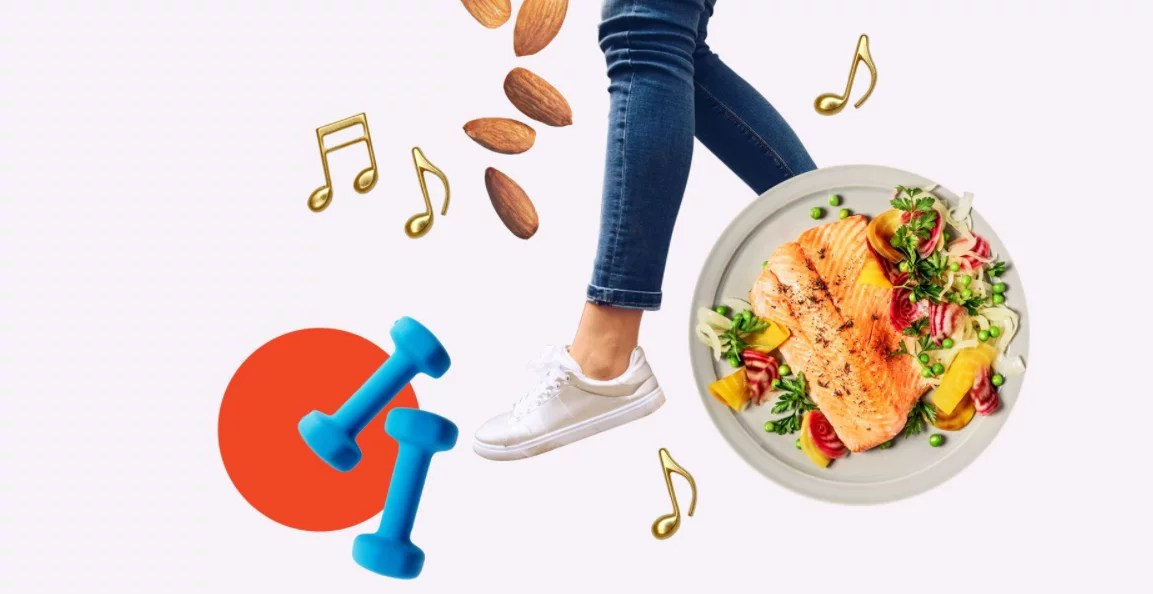 weight loss with gym and food