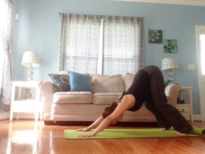 Downward Facing Dog | Best Yoga Poses for the Second Trimester | SpoiledYogi.com