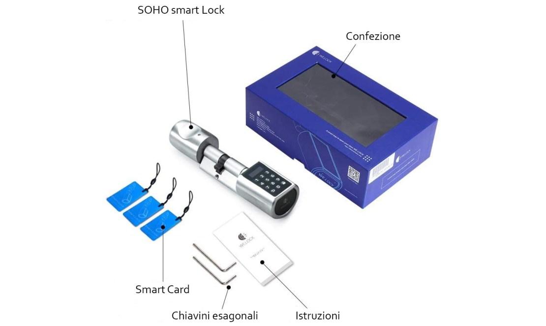 contenuto confezione serratura smart