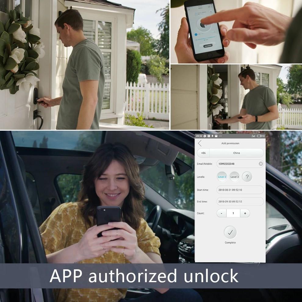 we lock autorizzazione sblocco via app