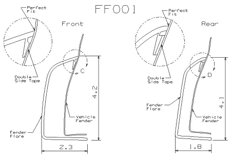 CHEVROLET SUBURBAN FACTORY STYLE FENDER FLARES 2000-2006