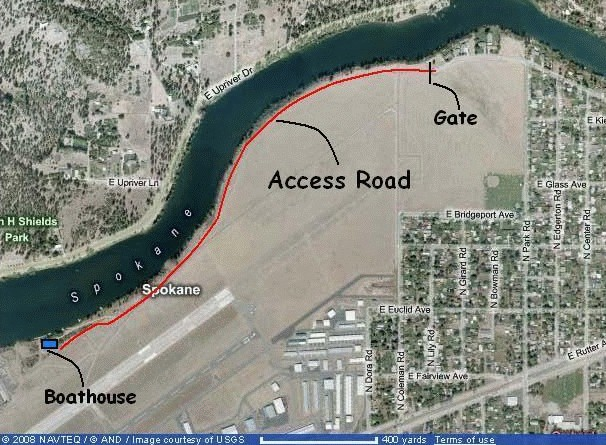 Boathouse access map
