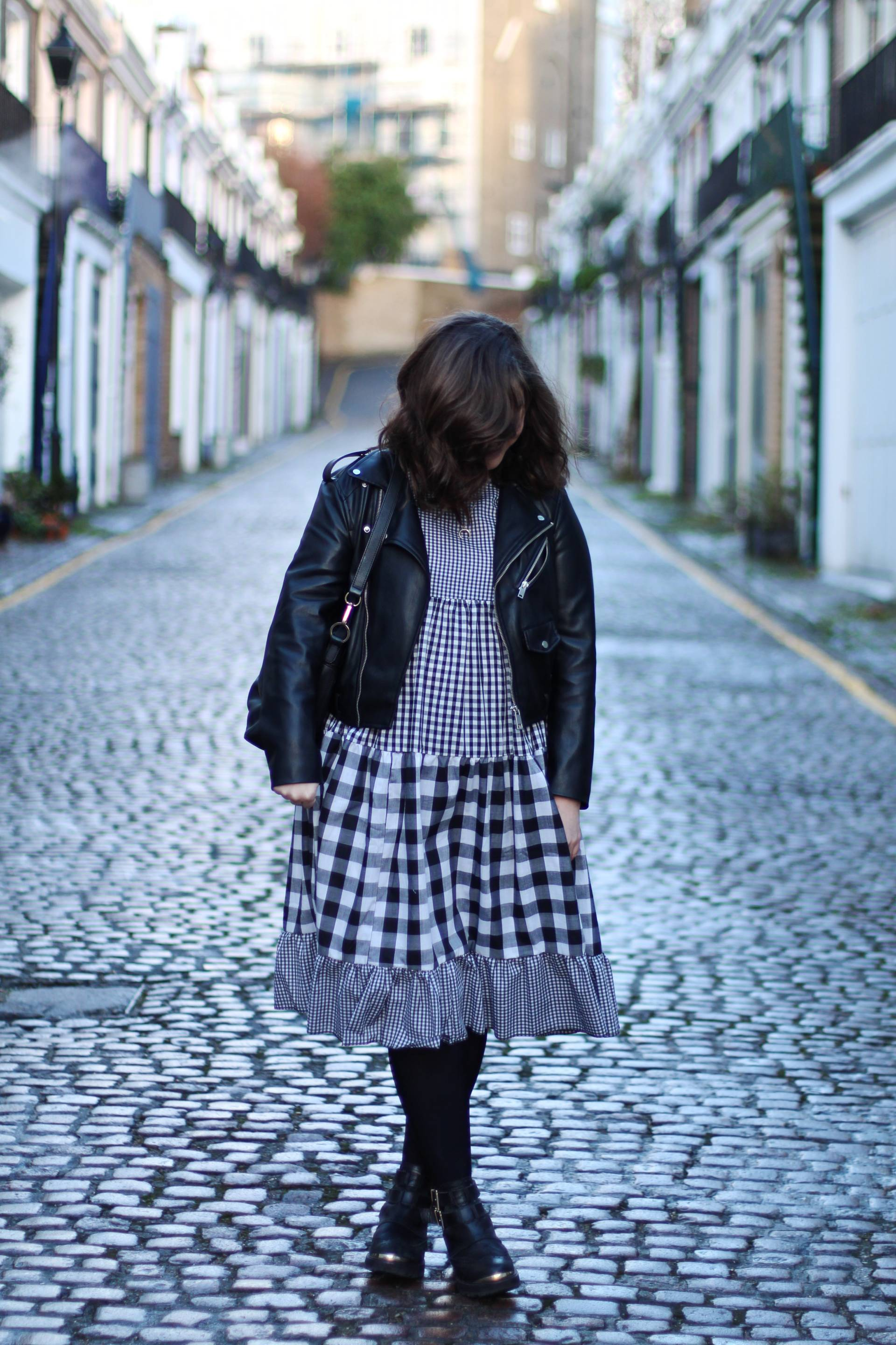 Asos Milk it mixed gingham smock dress