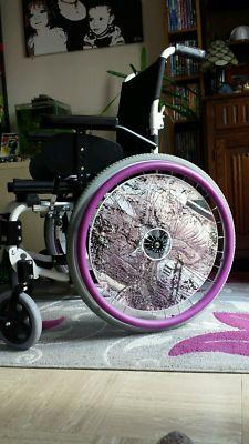 Pink Graffiti SpokeGuards Wheelchair Wheel Covers