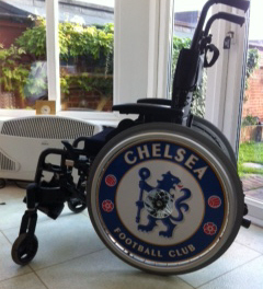 Chelsea FC Spokeguards wheelchair wheel covers