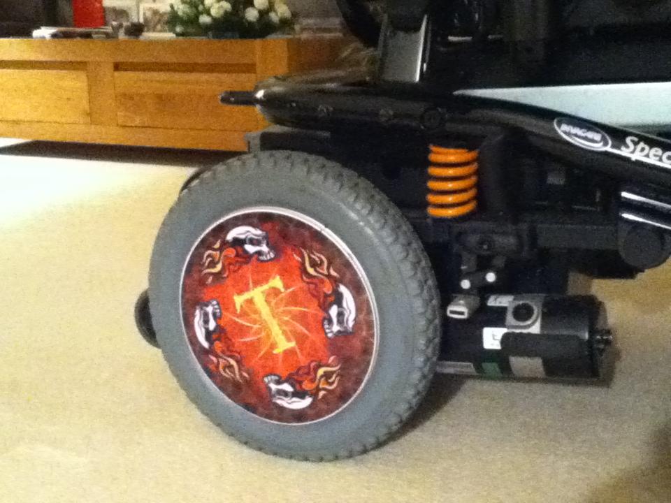 Skull Wheelchair Wheel Covers SpokeGuards