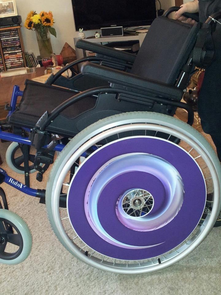 Spiral SpokeGuards Wheelchair Wheel Cover