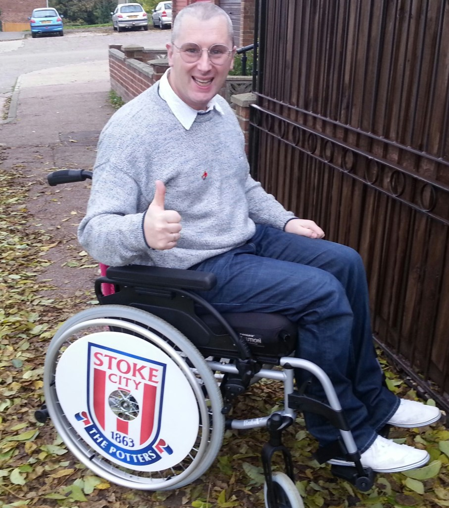 Kevin with Stoke City SpokeGuards wheel covers