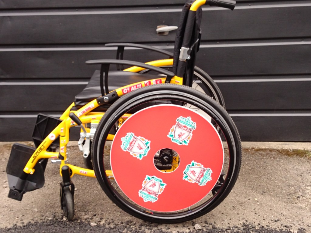 Liverpool FC WheelChair Wheel Covers SpokeGuards