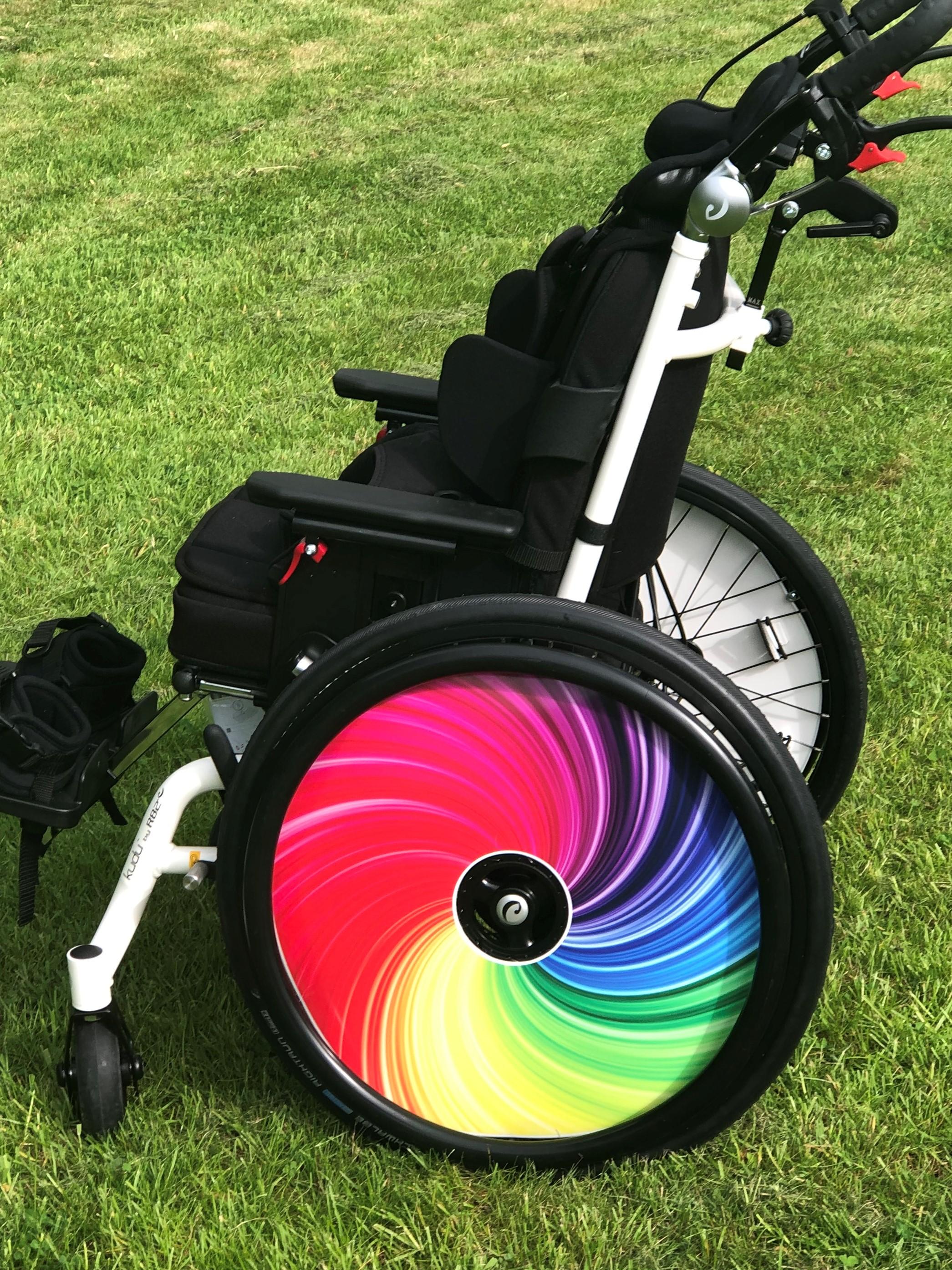 Mira's Rainbow SpokeGuards Wheel Covers