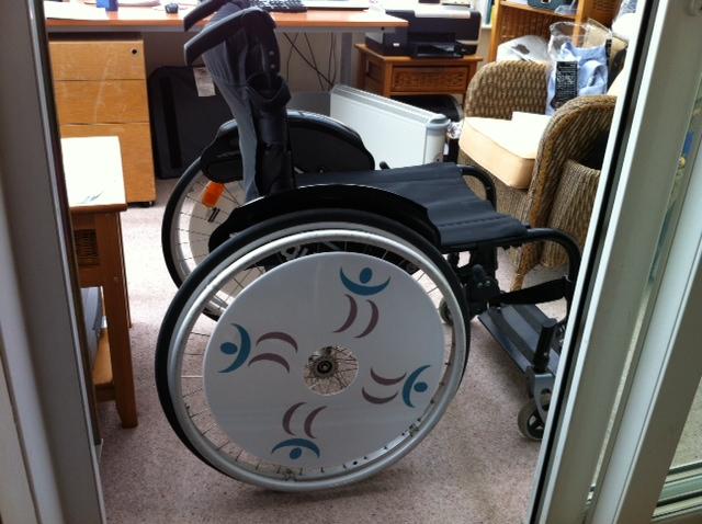 Wheelchair Steve SpokeGuards wheelchair wheel covers