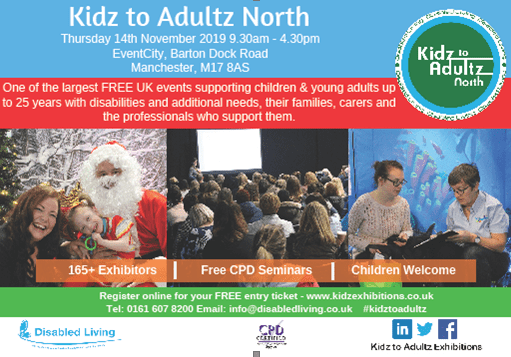 Disabled Living Exhibition Kidz to Adultz North Manchester