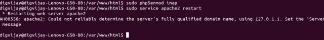 Apache restart