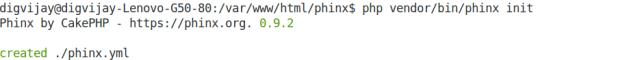 Phinx init