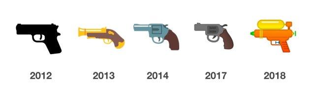 google-pistol-emojis-emojipedia-2012-2018