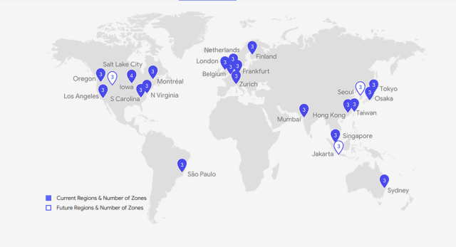 Google Cloud Servers Location