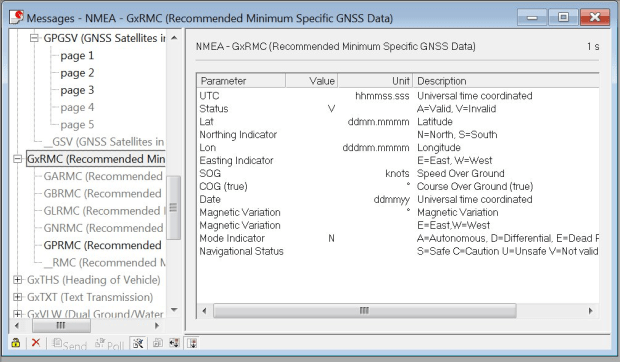 Invalid records in Ublox U-center software