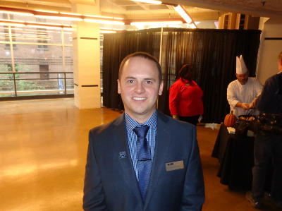 Nick Heitmeyer, Delaware North Companies General Manager for the Wolves Arena. Photo by Charles Hallman