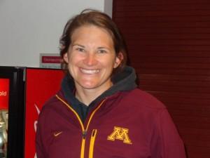University of Minnesota softball coach Jennifer Allister Photo by Charles Hallman