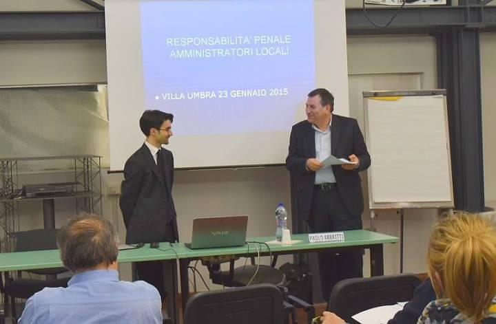 Pm Abbritti a seminario Villa Umbra su Amministratori Locali e responsabilità penale