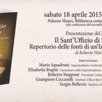 """La storia del """"Sant'Uffizio di Spoleto"""" nel libro di Roberto Nini"""