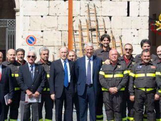La scala romana dei pompieri a Spoleto
