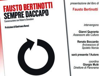 """Fausto Bertinotti presenta a Spoleto il suo libro """"Sempre Daccapo"""""""