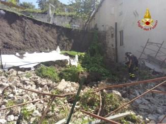 Crollo muro Palazzo Bufalini, entro due giorni vanno completati gli interventi