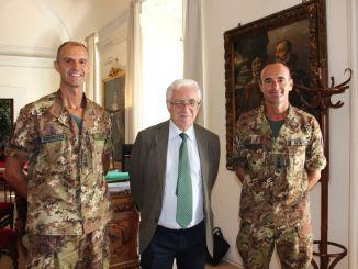 Comandante secondo Battaglione Cengio Giuseppe Rauso ricevuto dal sindaco