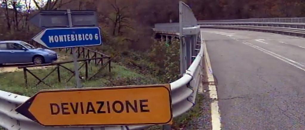 Lavori in corso per riaprire la SS3 Flaminia tra Spoleto e Terni