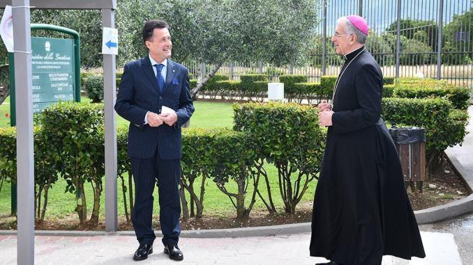 Momento di preghiera nel Carcere di Spoleto presieduto dall'arcivescovo Boccardo