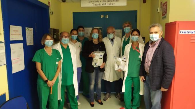 Maschere total face ed orofacciali donate all'ospedale di Spoleto
