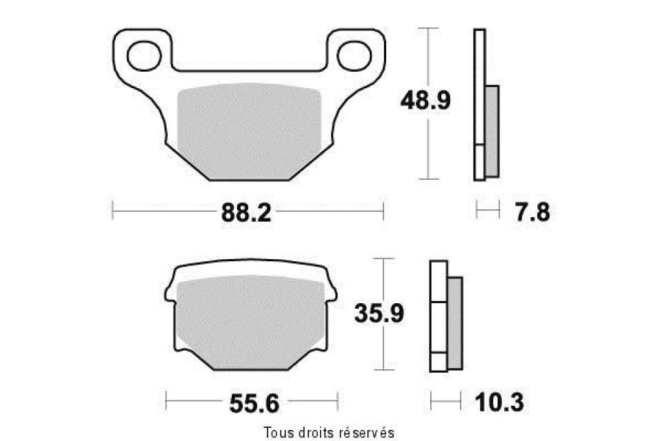 Platte Bremse Tecnium Motorrad Aprilia 125 RS4 2011-2016