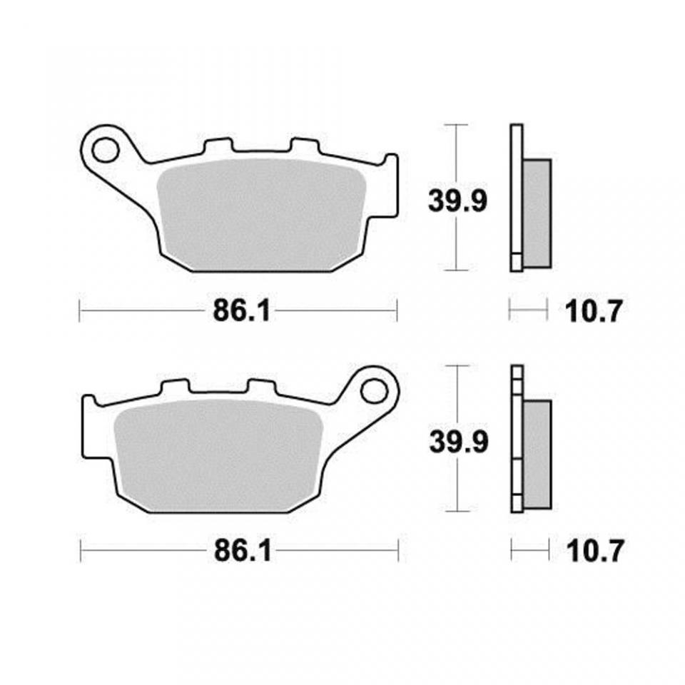 Brake Pad Ap Motorcycle Racing Triumph 650 Daytona 2005