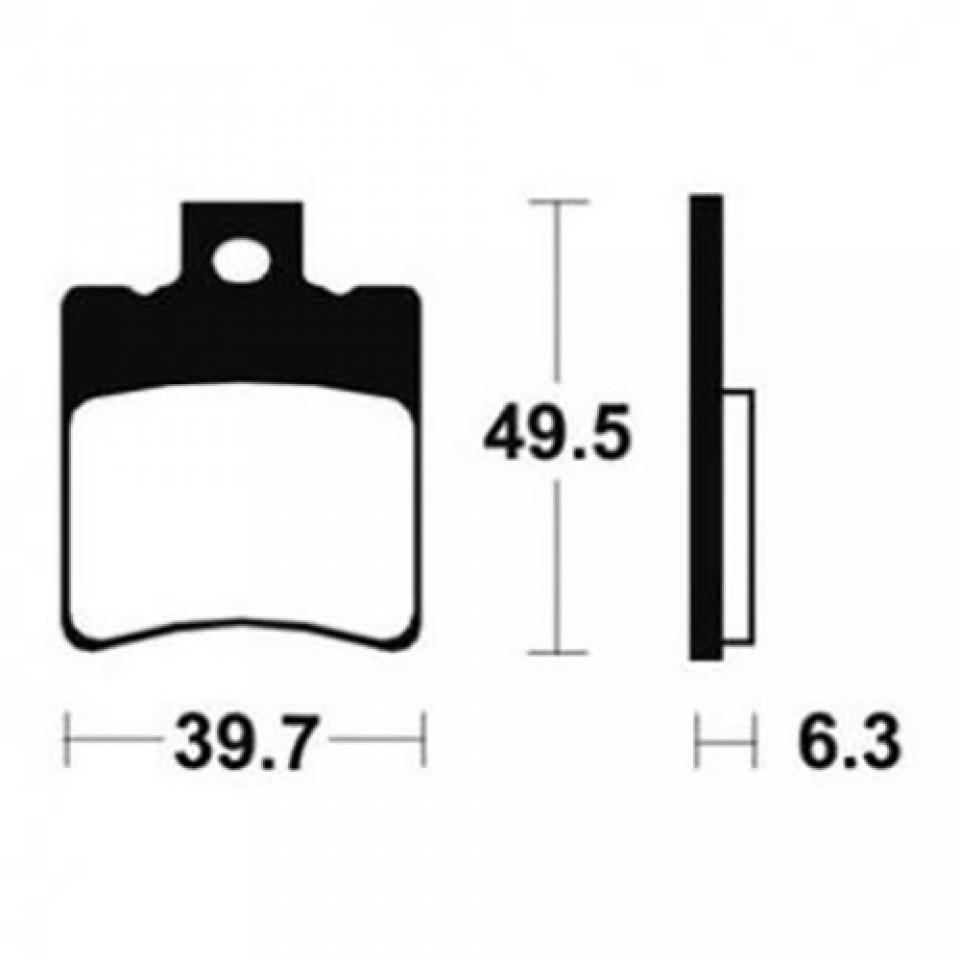 Plaquette de frein Tecnium Scooter Piaggio 50 Nrg Extreme