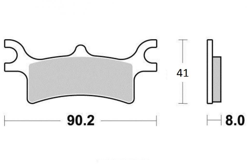 Brake pad Sifam Quad POLARIS 800 Sportsman Efi Int./Ho
