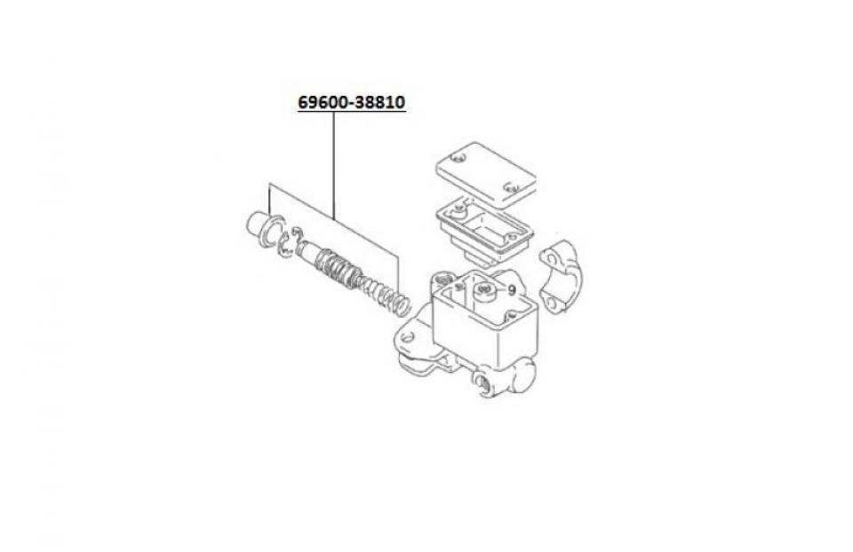 Kit de réparation de vérin de maitre cylindre avant