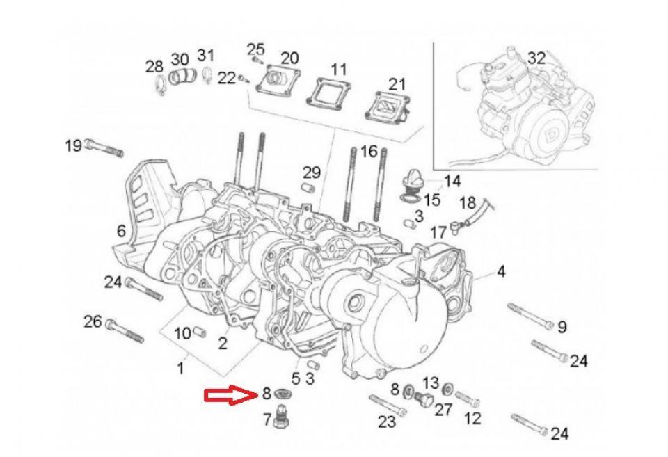 Joint moteur origine Moto Derbi 50 Senda DRD racing Neuf