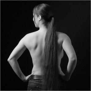 Spontane Fotografie achterkant meisje met lange haren