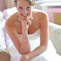 Spontane Fotografie bruid met diadeem