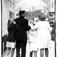 Spontane Fotografie onder een paraplue