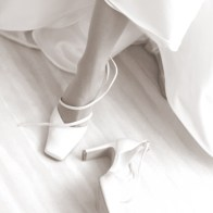 Spontane Fotografie schoen in sepia