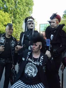 Die WGT-Gang. Jens, Frank, Björn und unten der Kevin.
