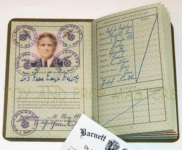 Rene Belloq's passport