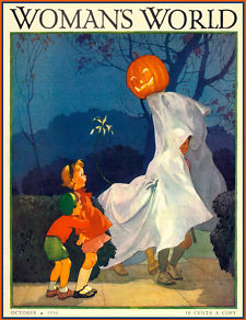 Vintage Halloween magazine covers