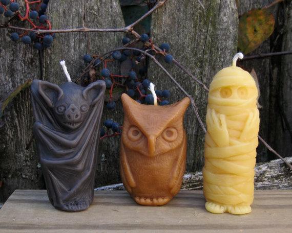 Monster Candles. Via pumpkinrot