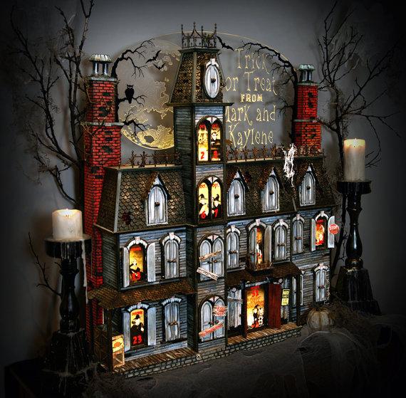 Halloween Advent Calendar. Genius! Via Halloween Shopaholic