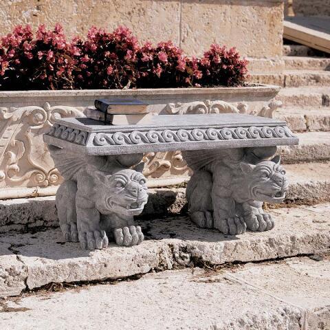 Blair Castle Gargoyle Bench