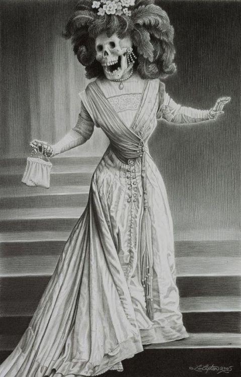La Catrina by Laurie Lipton